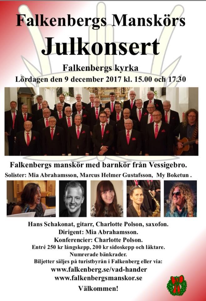 Falkenbergs manskör Julkonsert 2017
